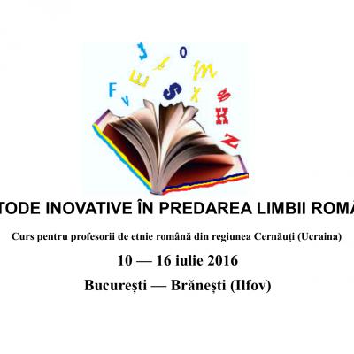 CRIS/ Cursuri pentru profesorii de limbă română din comunităţile istorice