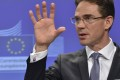 Jyrki Katainen, vice president of the European Commission in charge of Jobs, Growth, Investment and Competitiveness, speaks during a press conference at the EU headquarters in Brussels on July 22, 2015. AFP PHOTO/ JOHN THYS        (Photo credit should read JOHN THYS/AFP/Getty Images)