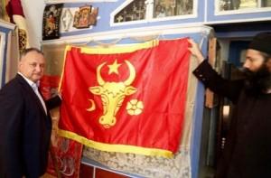 2018.04.25 - Dodon drapel Moldova