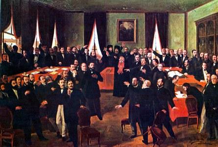 134 - 1859 Theodor_Aman_-_Proclamarea_Unirii