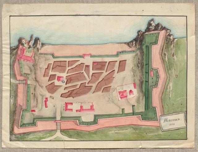 Planul cetății Hârșova de la 1828