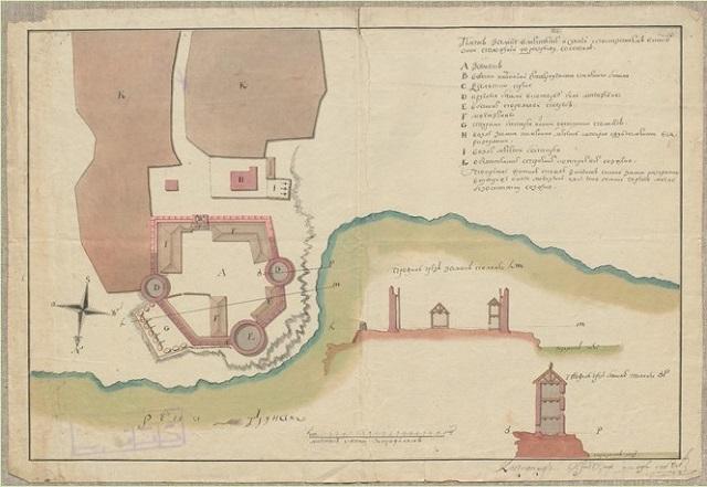 Planul cetății Isaccea de la 1773